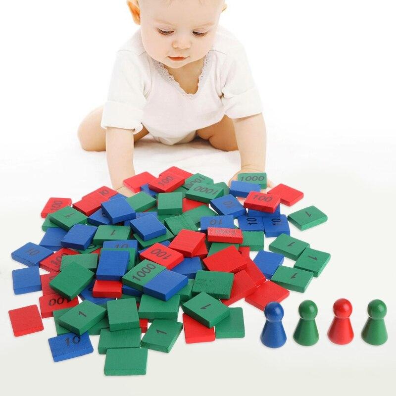 1 ensemble Montessori formes tri Puzzle géométrie conseil Figures éducation préscolaire enfants jouets pour jardin d'enfants