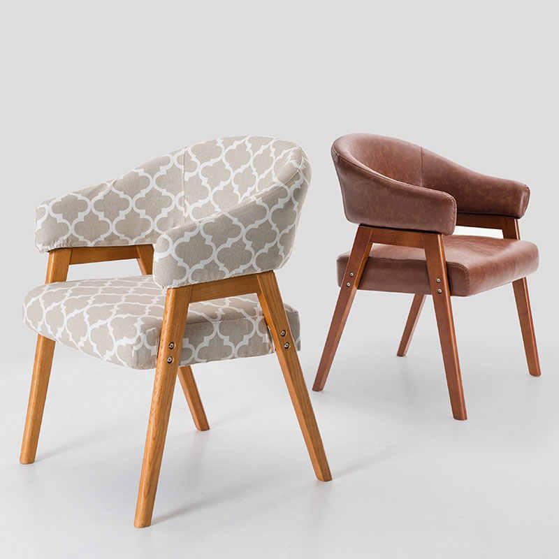 Poltrona poltrona de madeira Real arte pano de jantar cadeira cadeira cadeira do lazer cadeira de estudo moderno e minimalista Nórdico