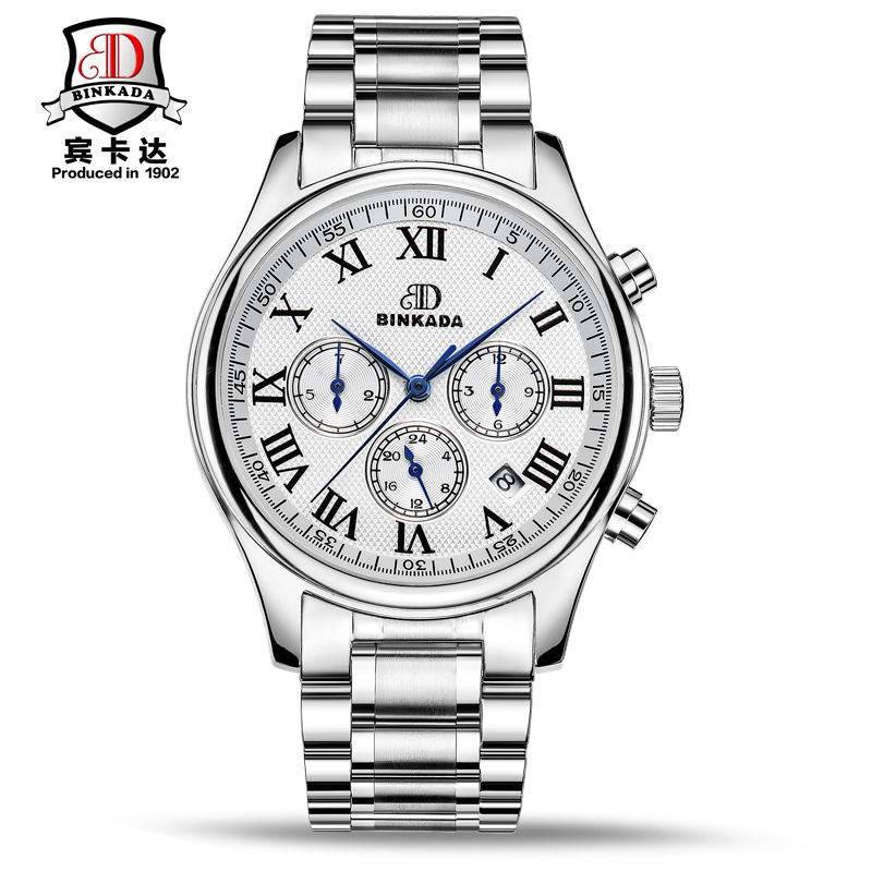Automatic Watch Men Switzerland Watches Top Luxury Brand Watch BINKADA Steel Strap Mechanical Watch Waterproof Relogio Masculino 2017 switzerland automatic mechanical men watch sapphire stainless steel relogio waterproof mens watches top brand luxury b5005