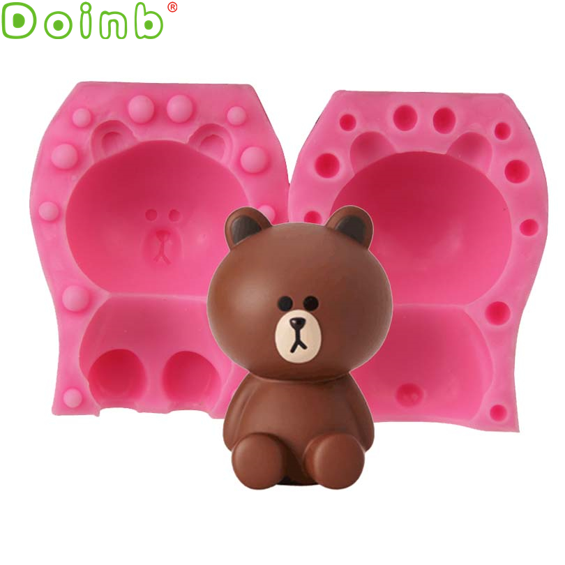 Cake Molds Cheap Price Cute Bear Silicone Mold Cake Decoration Food Safe Gumpaste Soap Butter Sugar Mould Epoxy Resin Jewelry Craft Tools