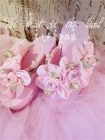Luxury Design Słodkie Cute Girl Kwiat Zroszony Diament Haft Różowy Klinowe Obcasy Platformy Obuwie Plażowe Wygodne Sandały Stringi