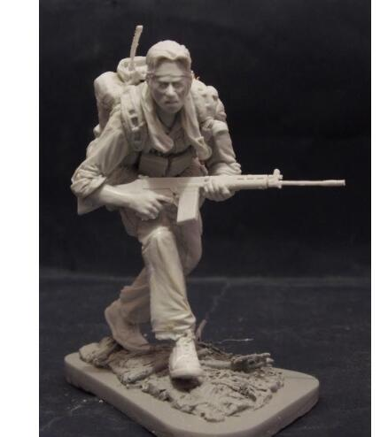 1/16 120mm Scouts With 2 Heads Officer WITH BASE   Resin Model Miniature  Figure Unassembly Unpainted