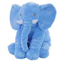 AIBOULLY New Soft Sleeping Animals Pillow Blue Giant Colorful Elephant Cushion Plush Stuffed Baby Toy Toys