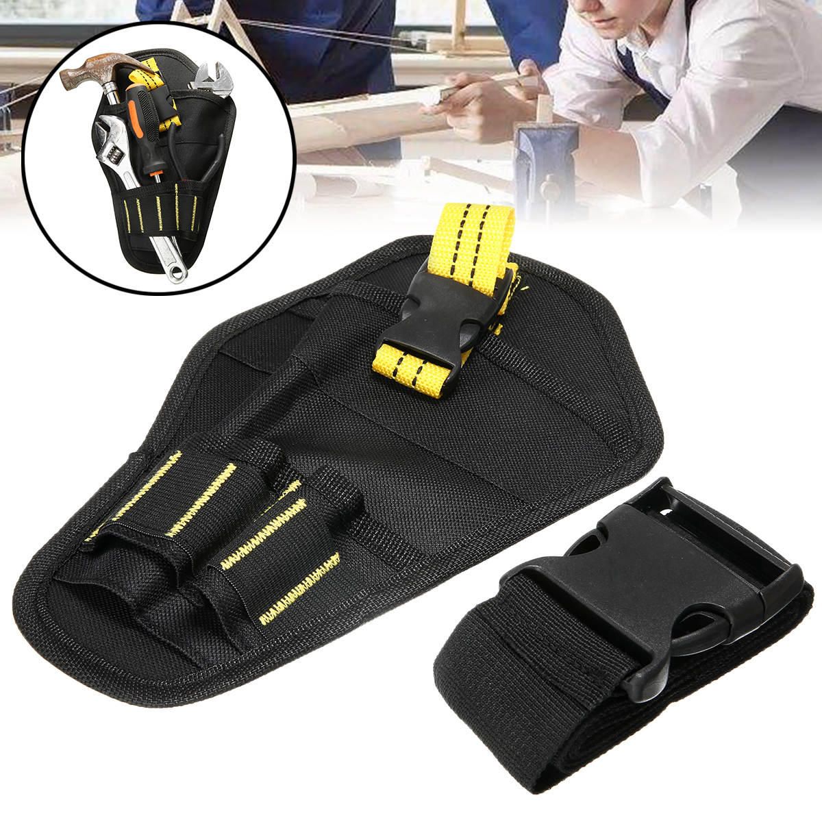 Portable Pouch Bag Electrician Tool Impact Driver Drill Holster Electric Cordless Drill Holder Waist Tool Bag Without Waist Belt