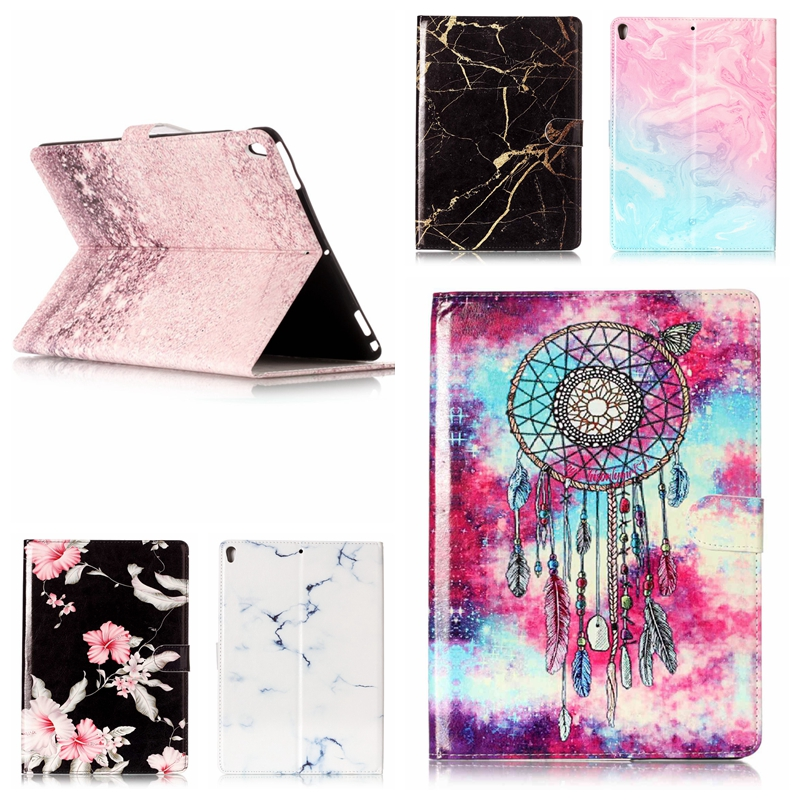 Fashion Flower Marble Pattern Case for iPad Mini 3 2 1 PU Leather Cover Auto Sleep Protective Shell for iPad Mini1 Mini2 Mini3