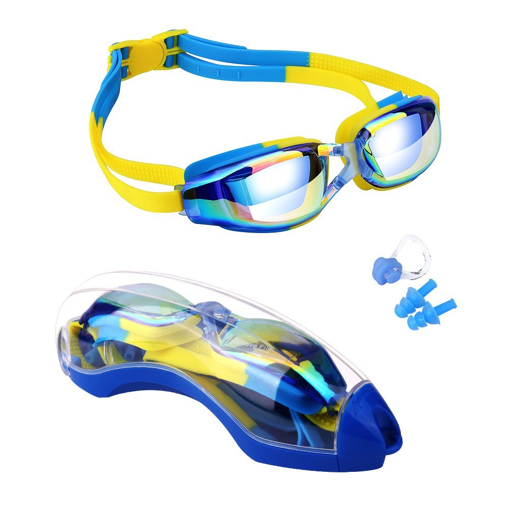 Kids Swimming Anti-Fog UV Protection Prescription Goggles Waterproof Glasses Goggle 5
