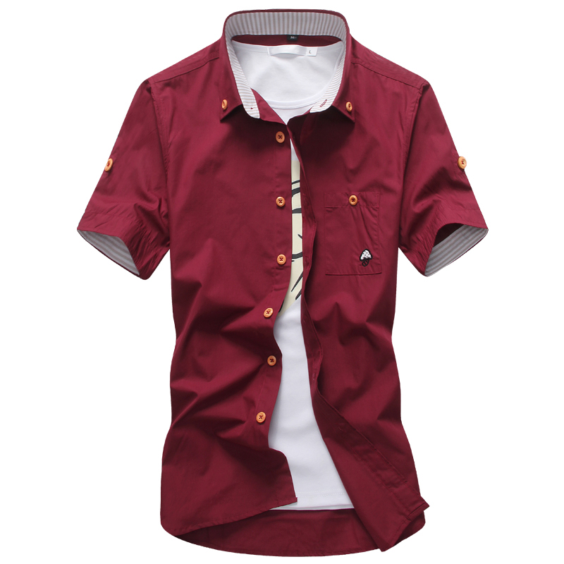 Hot sale casual men shirts quality solid 2016 unique for Cool mens casual shirts