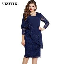 Летнее женское платье, повседневное, размера плюс, обтягивающее, Осеннее, офисное, облегающее, сексуальное, элегантное, винтажное, с вырезом, кружевное, вечерние платья