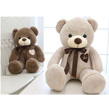 Large Teddy Bear Plush Toy Cute Big Huge Stuffed Soft Bear Wear Bowknot Bear Kids Toy