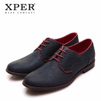 Size 40 46 Brand XPER Casual Men Dress Shoes Lace Up Wear Comfortable Men Wedding Shoes