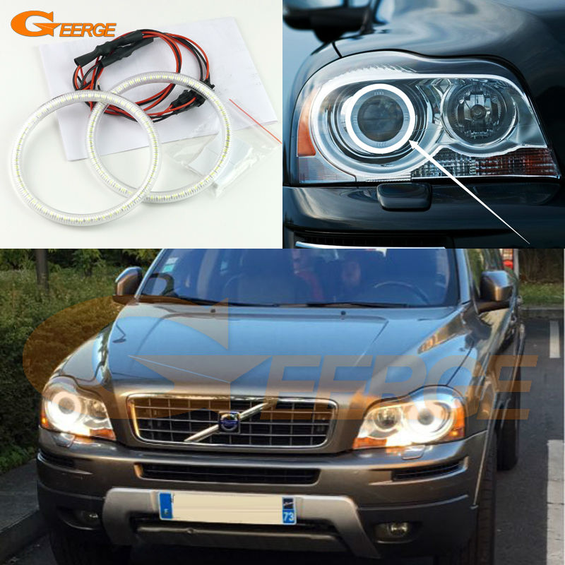 For Volvo XC90 2010 2011 2012 2013 with xenon headlight Excellent Angel Eyes Ultra bright illumination smd led Angel Eyes kit for volvo xc90 2010 2011 2012 2013 xenon headlight excellent angel eyes multi color ultra bright rgb led angel eyes kit