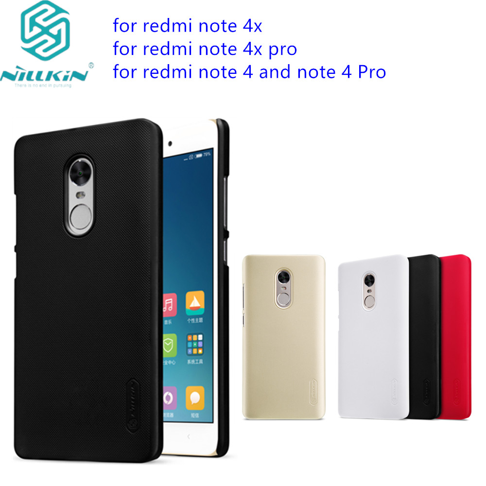 for redmi Note 4X Case redmi note 4 pro cover NILLKIN Super Frosted Shield hard back cover case for note 4X PRO Free HD Film