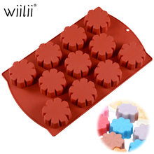 Wiilii Silicone Cake Mold Flower Shape Mould For Chocolate Jelly Fondant Prepared Food Baking Decorating Bakware Tool
