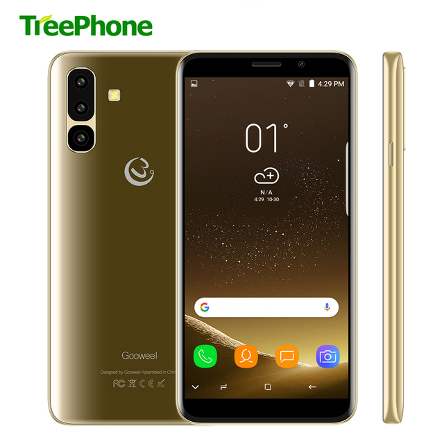 Gooweel S10 3G Smartphone MTK6580 Quad core 5.45 inch IPS Screen Face ID mobile phone 5MP+2MP Camera GPS unlocked Cell phone