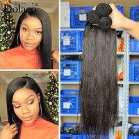 Yaki Human Hair Brazilian Hair Weave Bundles Light Yaki Straight Hair Extensions 1 Piece Dolago Virgin Human Hair Products