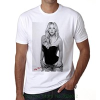 Men T Shirt Print Cotton Short Sleeve T Shirt Kaley Cuoco Men S T Shirt Celebrity