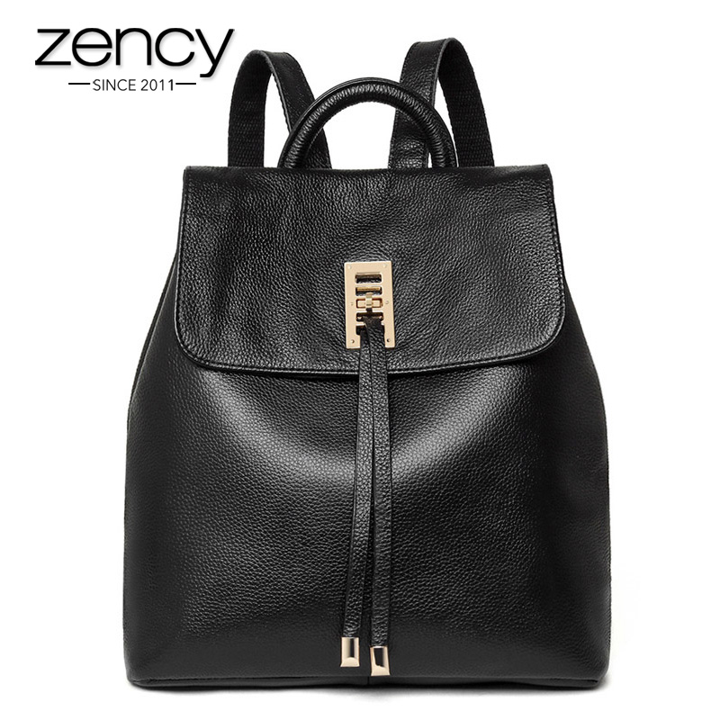 3623d46988 New Fashion Designer Genuine Leather Backpack Women Bag Knapsack Ladies for  Teenagers Sac a Dos Female Rucksack Mochila Feminina