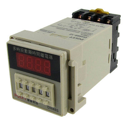 цена на AC 220V 240V Digital Timer Time Delay Relay 0.01S - 99H 99M 8 Pins w Socket