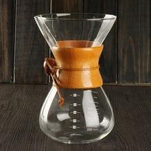 800 ml de cristal clásico estilo verter sobre cafetera chemex cafetera espresso cafetera de goteo máquina de café manual de café de goteo