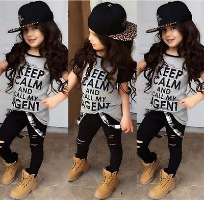 Aliexpress.com : Buy 2016 New 2PCS Set Toddler Kids Girls Clothes ...
