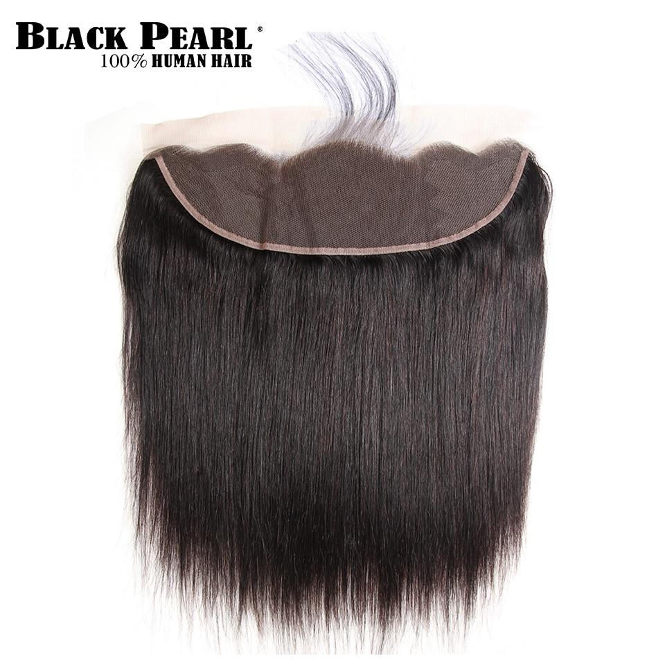 Czarna perła przed barwieniem Koronka Frontal Zamknięcie z - Włosy ludzkie (na czarno) - Zdjęcie 3