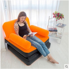 Flocking inflatable fashion leisure couch Inflatable sofa Midday nap bed