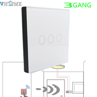 VHOME Smart Home 3GANG1WAY 433MHZ RF WIFI Remote Controller Control Touch Wall Light Home Automation