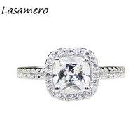 LASAMERO 1 1ct Cushion Cut Lab Grown Moissanites Center Halo Style 14k White Gold Wedding Engagement