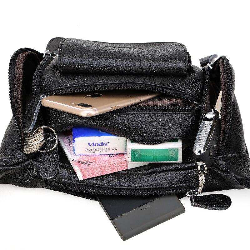 Мужская поясная сумка из натуральной кожи поясная сумка мужская дорожная поясная сумка на пояс мешочки для телефона маленькие нагрудные пакеты - 5