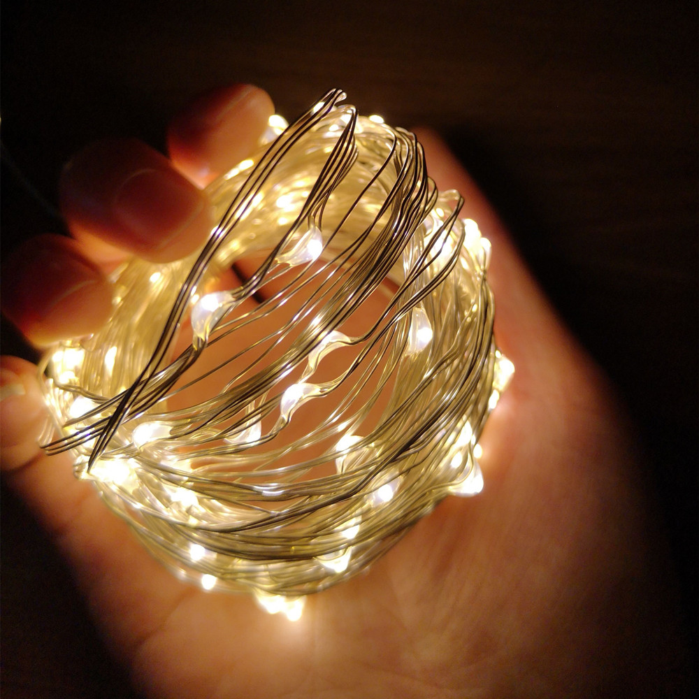 Decorative Lighting Led String Lights Silver Wire LED Waterproof For DIY Garden Gazebo Wall Trees Wedding Christmas Holiday