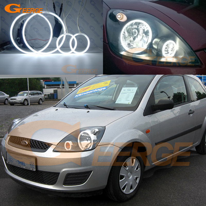 For ford fiesta facelift 2005 2006 2007 2008 Excellent Angel Eyes Ultra bright illumination ccfl angel eyes kit Halo Ring
