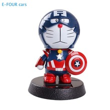E-FOUR Car Interior Decor Toy Ornament Nodding Head Marvel Accessories Cartoon Special Vehicle Decoration Products for Cars Cute