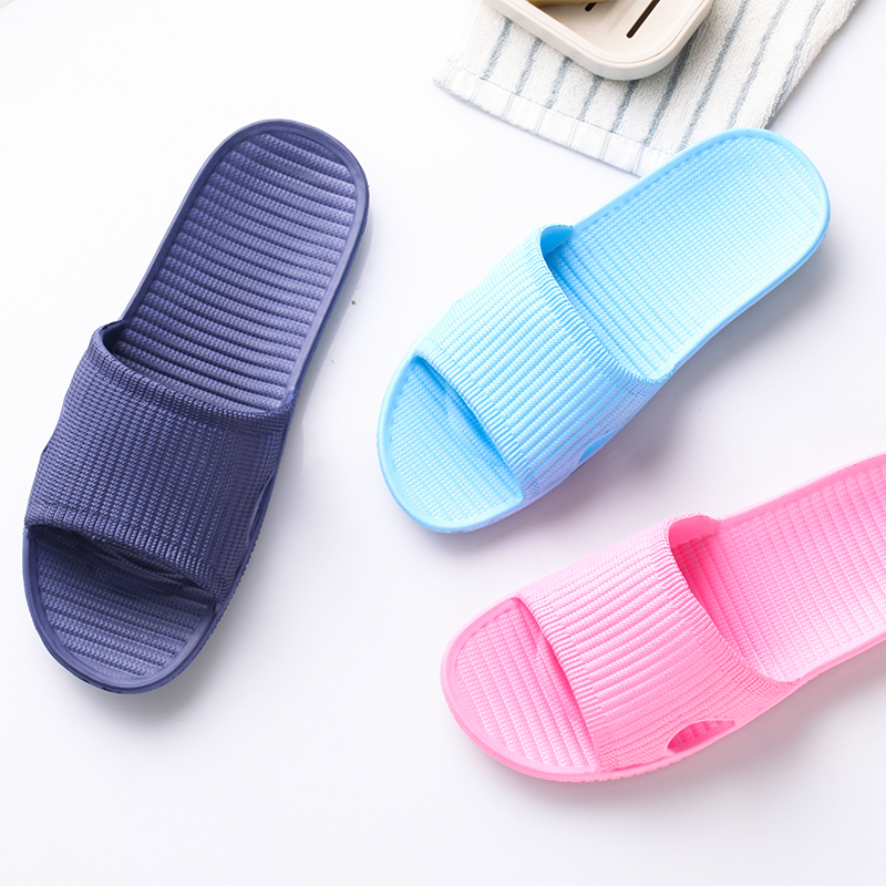COOLVFATBO Men Stripe Flat Bath Slippers Summer Stripe Flat Bath Slippers Summer Sandals Indoor & Outdoor Slippers
