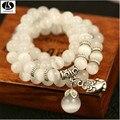 Лучшие качества Природный Опал Браслет храбрый белый crystal ball браслет оптовая продажа ювелирных изделий очарование женщин девушки подарок s339