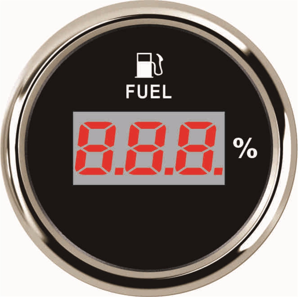 1pc brand new 52mm digital fuel level gauges auto fuel level meters 9-32v fit for boat or automobile white & black 1pc clock table time meters 12v 24v for boat automobile motor homes universal white color