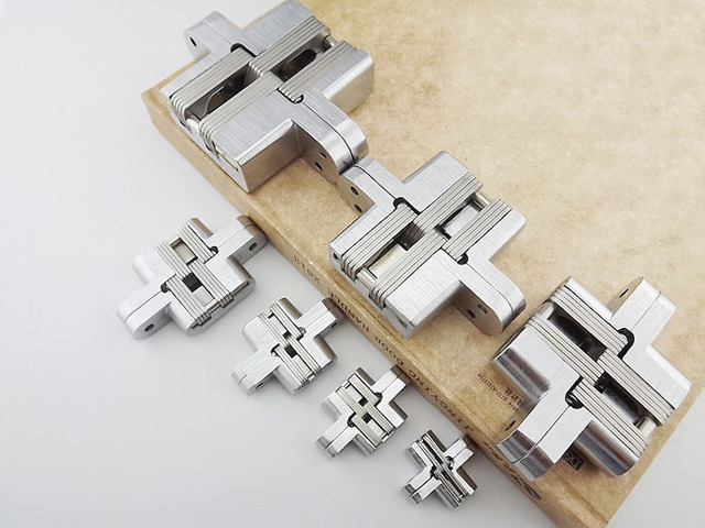 Construction Material Stainless Steel Door Hinge New Stock With Screws Concealed Invisible