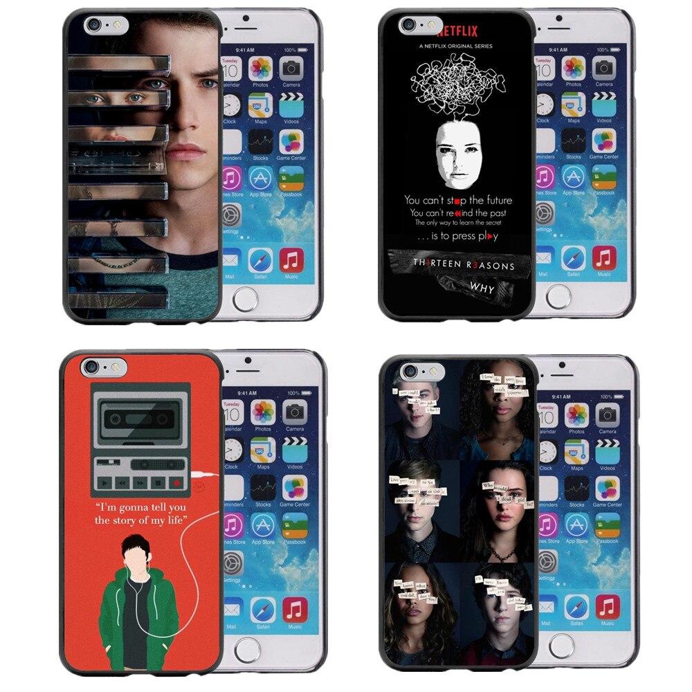 Phone <font><b>case</b></font> Thirteen <font><b>13</b></font> <font><b>Reasons</b></font> <font><b>Why</b></font> Quotes Hard plastic Cover for <font><b>iPhone</b></font> 5S 5 SE 6 6S 6Plus 7 7Plus Back Cover Fundas