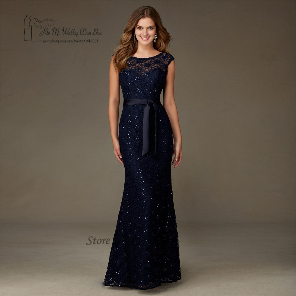 Buy high quality navy blue lace sequin for Navy dresses for weddings