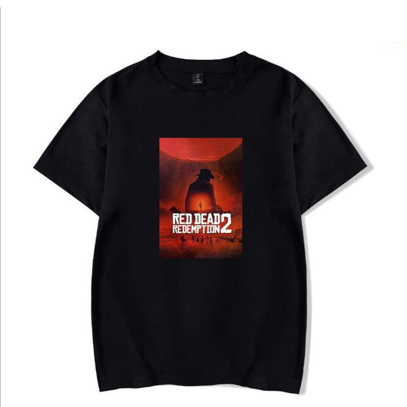 RED DEAD REDEMPTION 2 T Shirt Men Women Funny Printed Short Sleeve Tshirts Summer Hip Hop Casual Cotton Tops Tees Streetwear