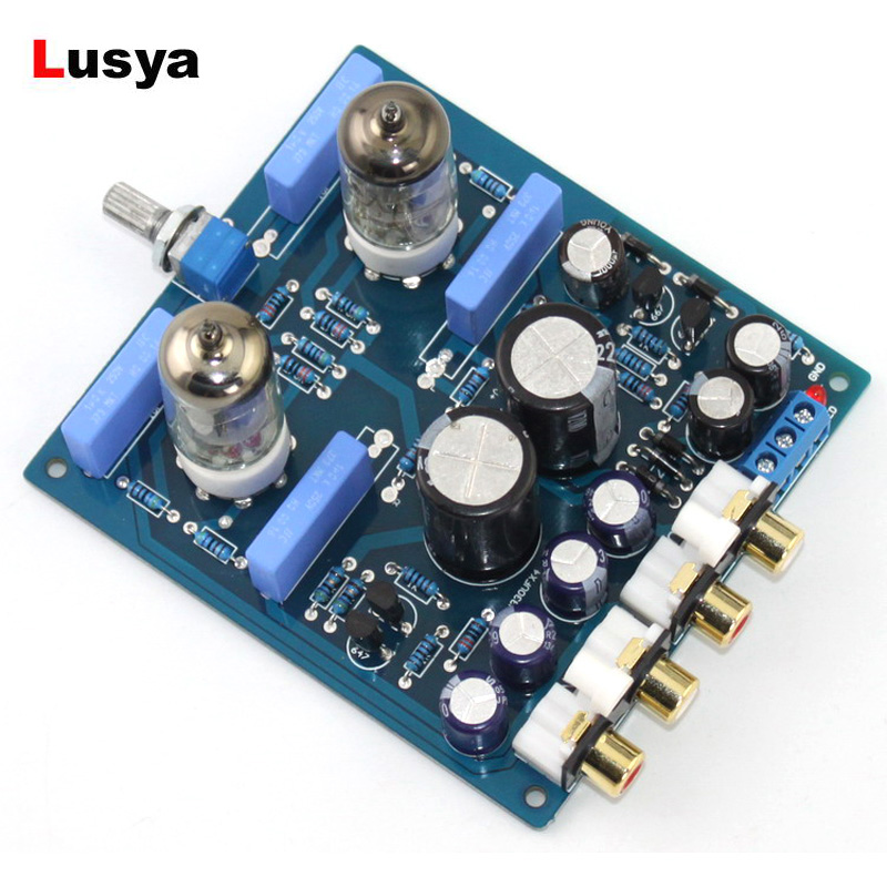 6J1 Tube <font><b>Pre</b></font>-<font><b>Amplifier</b></font> Preamp Board HiFi Amp <font><b>Audio</b></font> Board Completed Board X10-D Circuit AC12V-0-AC12V image