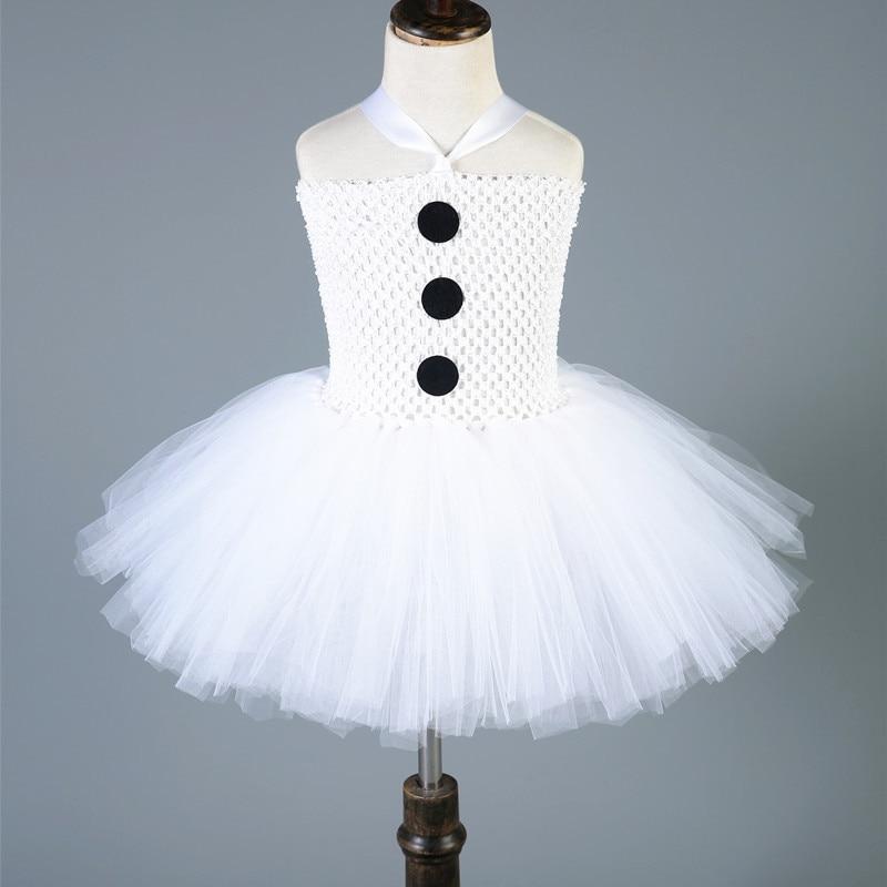 NEW Bērnu meitenes Ziemassvētku svinības kleita Balts Tutu kleita Bērniem Sniegavīrs Olaf Cosplay Ziemassvētku kostīms Dzimšanas diena Tulle Princess Kleita