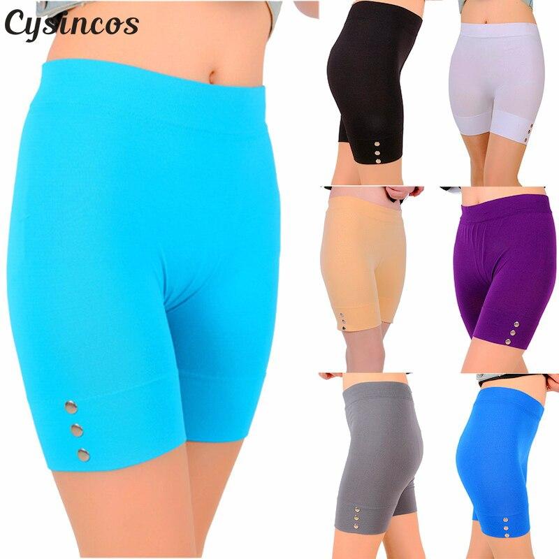 Cysincos 2018 New Sexy Women's Summer   Leggings   Slim Fitness High Stretch Short   Leggings   Female Short Trousers Sporting   Leggings