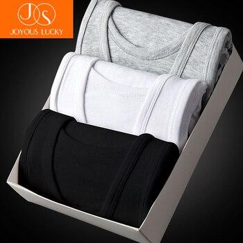 Męska Podkoszulek Koszula Najniższy 3 sztuk Cotton Men Casual Bielizna Koszula Miękka Oddychająca Szczupły Mężczyzna Podkoszulek Top Bielizna Męska