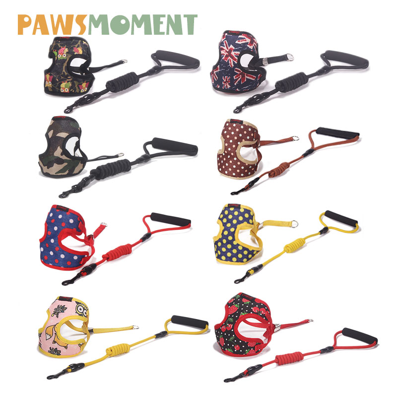 Pet Products For Dog Harness Leash Leads Dog-Collar Pet Accessories Puppy Vest Dog Harness Leash For Small T  Large Dogs