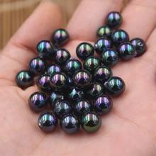 Czarny kolor ładne jakości South Sea Oyster Shell perły pół wiercone luźne perły, 50 sztuk/partia