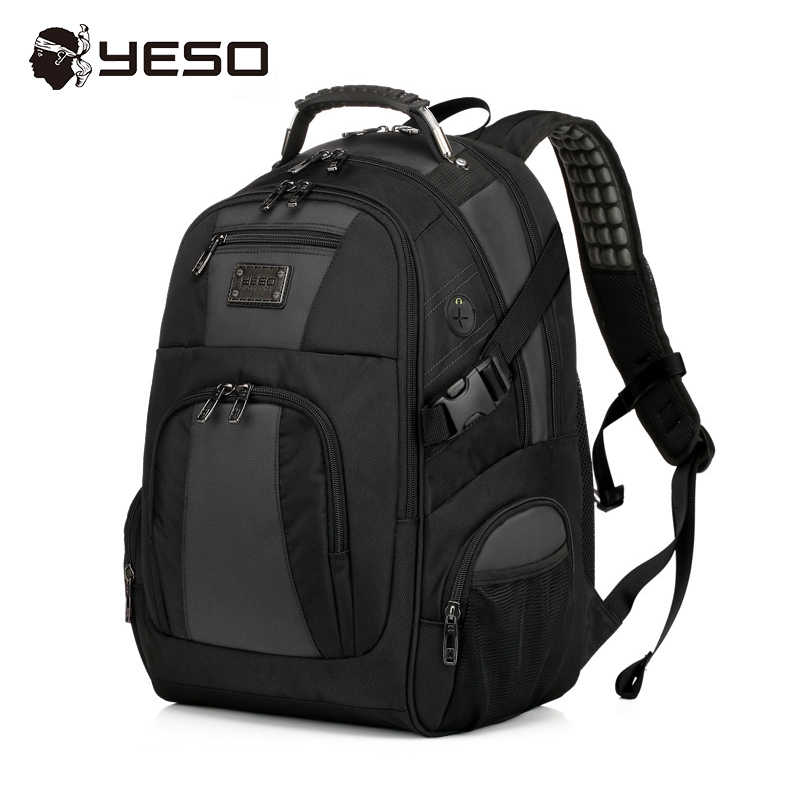 8df5af5336c YESO Brand Laptop Backpack Men 15.6 17 inch Multifunction Waterproof Oxford  School Backpack For Teenagers Casual