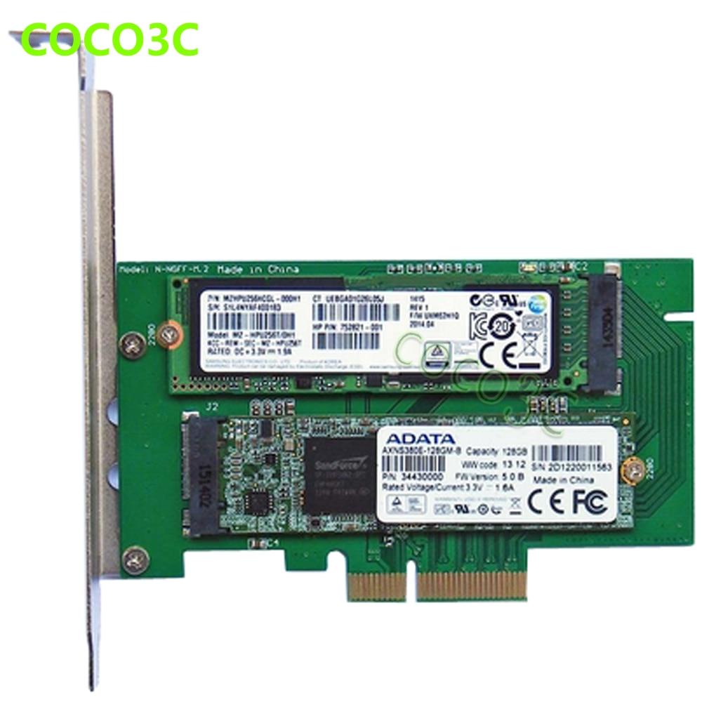 PCI-e x4 to M Key NGFF SSD քարտ SAMSUNG 950 PRO M.2 SSD աշխատասեղանի SATA III 3.0 to B Key M.2 SATA միջերես SSD ադապտեր