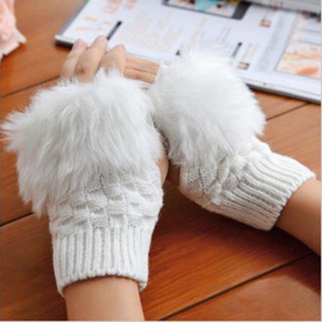 Woolen Rabbit Fur Women...