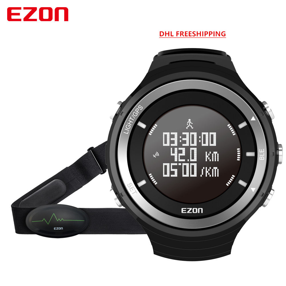 Men's Multi-Function Waterproof Smart  Sports Watch G3  With GPS  Heart late  Fitness Tracker Pedometer DHL Freeshipping men s multi function waterproof smart sports running watch s2 with pedometer pair with android 4 3 ios6 0 or higher bluetooth