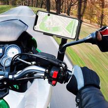 Motorcycle Mobile Phone Holder Stand Motorbike rearview mirr